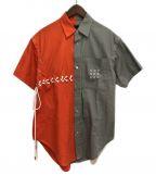 SYU.(シュウ)の古着「21SS バイカラーシャツ」 グレー×オレンジ
