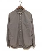 COMME des GARCONS HOMME PLUS(コムデギャルソン オムプリュス)の古着「21SS エステルパンブロード製品染めシャツ」 グレー