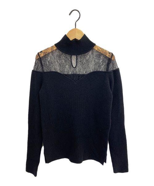 FENDI(フェンディ)FENDI (フェンディ) レース切替セーター ブラック サイズ:40の古着・服飾アイテム