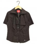 Vivienne Westwood RED LABEL(ヴィヴィアンウエストウッドレッドレーベル)の古着「オーブ柄シャツ」|ブラック