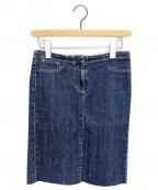 MM6 Maison Margiela(エムエムシックス メゾンマルジェラ)の古着「デニムスカート」|ネイビー