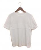 COMME des GARCONS SHIRT(コムデギャルソンシャツ)の古着「パイル切替Tシャツ」|ホワイト