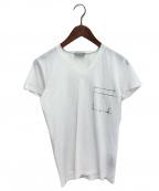 DIOR HOMME(ディオール オム)の古着「VネックプリントTシャツ」 ホワイト