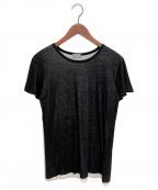 DIOR HOMME(ディオール オム)の古着「レイヤードTシャツ」 ブラック×ホワイト
