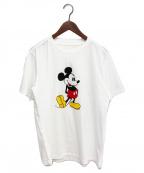 TAKAHIROMIYASHITA TheSoloIst.(タカヒロミヤシタザソロイスト)の古着「20SS Mickey Mouse crew neck S/」|ホワイト