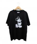 TAKAHIROMIYASHITA TheSoloIst.(タカヒロミヤシタザソロイスト)の古着「20SS Mickey Mouse crew neck S/」|ブラック