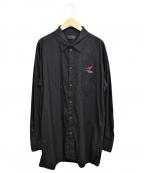 s'yte(サイト)の古着「100/2 Broad Regular Collar Shi」 ブラック