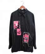 s'yte(サイト)の古着「レギュラーカラーシャツ」 ブラック