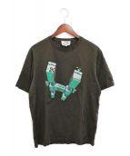 ()の古着「プリントTシャツ」 ブラウン