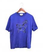 HERMES(エルメス)の古着「ホースプリントTシャツ」|ブルー