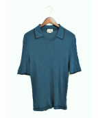 ()の古着「スキッパーニットポロシャツ」 グリーン