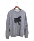 ()の古着「ブラジリアンホース クルーネックスウェットシャツ」 グレー