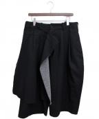 s'yte(サイト)の古着「ラップワイドパンツ」 ブラック