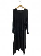 GROUND Y(グラウンドワイ)の古着「Vintage Decyne Jersey Long Shi」 ブラック