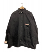 ()の古着「BIG FIT DENIM SHIRT」 ブラック