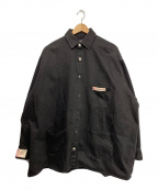 RAF SIMONS(ラフシモンズ)の古着「BIG FIT DENIM SHIRT」|ブラック