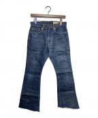 KAPITAL(キャピタル)の古着「フレアデニムパンツ」|インディゴ
