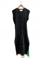 AKIRA NAKA(アキラナカ)の古着「ニットワンピース」|ブラック
