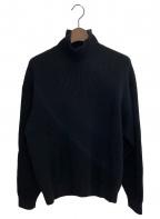 AURALEE(オーラリー)の古着「SFWOOLRIB-TURTLE」|ブラック