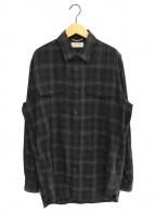 ()の古着「チェックシャツ」|ブラック