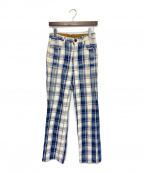 KAPITAL(キャピタル)の古着「チェックパンツ」|ブルー