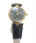 Cartier(カルティエ)の古着「クォーツ腕時計/ヴァンドーム」 ブラック