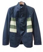 COMME des GARCONS SHIRT(コムデギャルソンシャツ)の古着「カラーパネルジャケット」|ネイビー