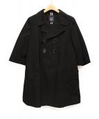 LIMI feu(リミフゥ)の古着「ショートスリーブコート」|ブラック