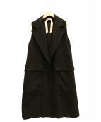 N°21(ヌメロ ヴェントゥーノ)の古着「ロングジレ/ロングベスト」|ブラック