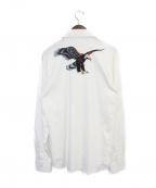 sss world corp(トリプルエス ワールドコープ)の古着「イーグルシャツ」|ホワイト