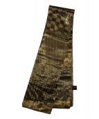 FENDI(フェンディ)の古着「大判ストール」|ゴールド×ブラック