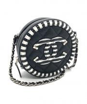 CHANEL(シャネル)の古着「ラウンドショルダーポーチ/CCフィリグリー」|ブラック