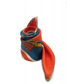 HERMES(エルメス)の古着「カレ90」|オレンジ×ブルー