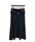 CELINE(セリーヌ)の古着「ベルト付きロングスカート」 ブラック