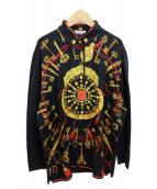HERMES(エルメス)の古着「スカーフドッキングポロシャツ」|ブラック