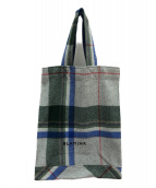 BLAMINK(ブラミンク)の古着「ローデンクロスチェックトートバッグ」|グレー×グリーン