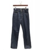AURALEE(オーラリー)の古着「ハードツイストデニムパンツ」 ブルー