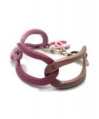()の古着「チェーンブレスレット」|ピンク
