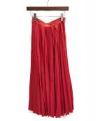 ATON(エイトン)の古着「プリーツスカート」|レッド