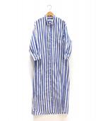 LAppartement(アパルトモン)の古着「シャツワンピース」 ブルー×ホワイト
