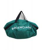 BALENCIAGA(バレンシアガ)の古着「ボストンバッグ」|グリーン