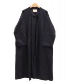 ENFOLD(エンフォルド)の古着「リネンガウンコート」 ネイビー