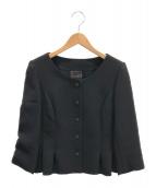 FOXEY(フォクシー)の古着「ノーカラージャケット」|ブラック