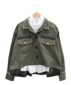 sacai(サカイ)の古着「レイヤードジャケット」|カーキ