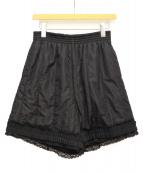 MM6(エムエムシックス)の古着「ショートパンツ」|ブラック