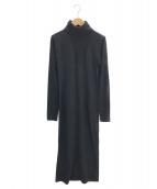 POLO RALPH LAUREN(ポロラルフローレン)の古着「タートルネックカットソーワンピース」|ブラック