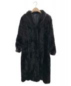 SAGA MINK(サガミンク)の古着「ミンクファーコート」 ブラック