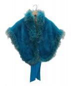 SAGA MINK(サガミンク)の古着「ミンクファーショール」 ブルー