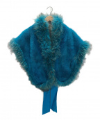 SAGA MINK(サガミンク)の古着「ミンクファーショール」|ブルー