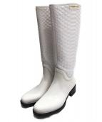 sergio rossi(セルジオロッシ)の古着「レインブーツ」|ホワイト